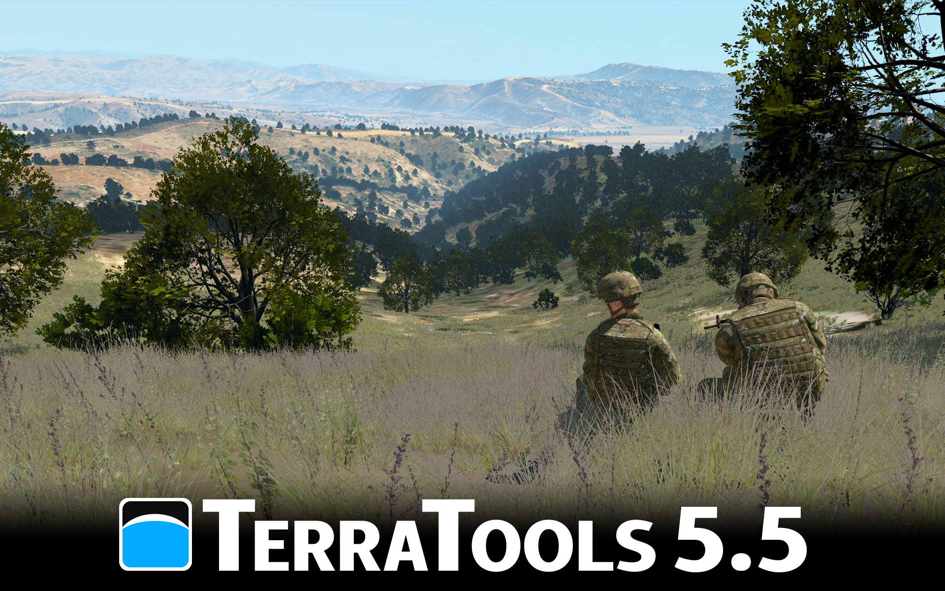 Terrain generated in TerraTools as viewed in VBS3