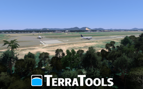 Terrain generated in TerraTools as viewed in VBS4
